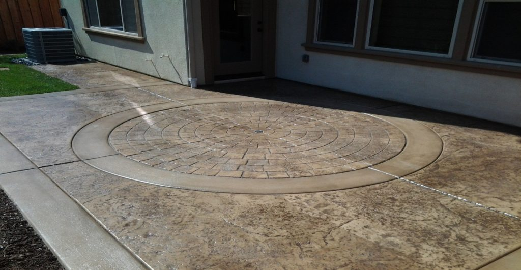 Stamped Concrete Driveway Contractor Vista, Decorative Concrete Vista