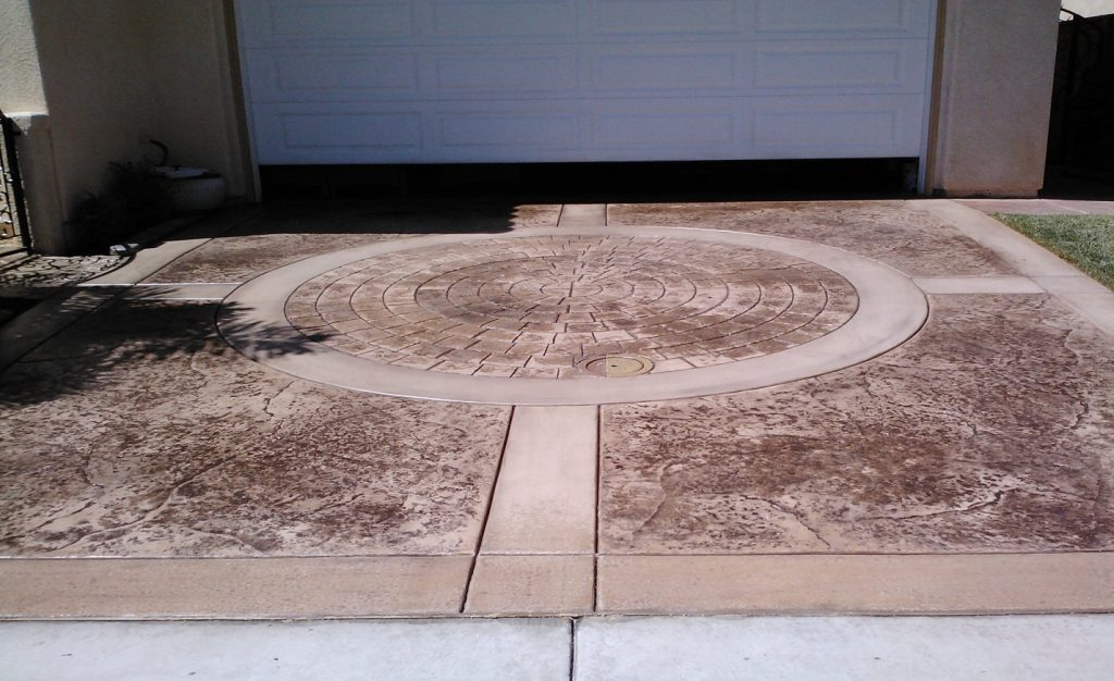 Stamped Driveway Concrete Contractor Vista, Decorative Concrete Company Vista Ca